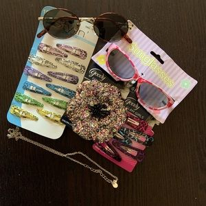 New Hair accessories with 2 sunglasses.